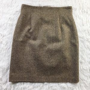 Pendleton Wool Herringbone Tweed Pencil Skirt Med